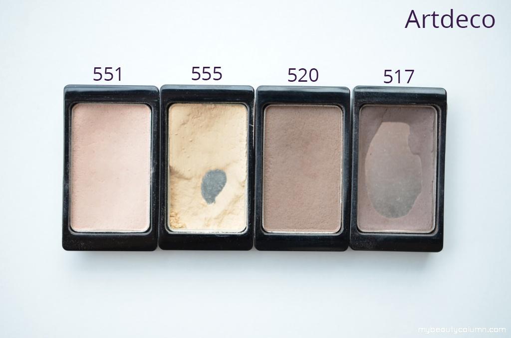 Artdeco eyeshadows mat