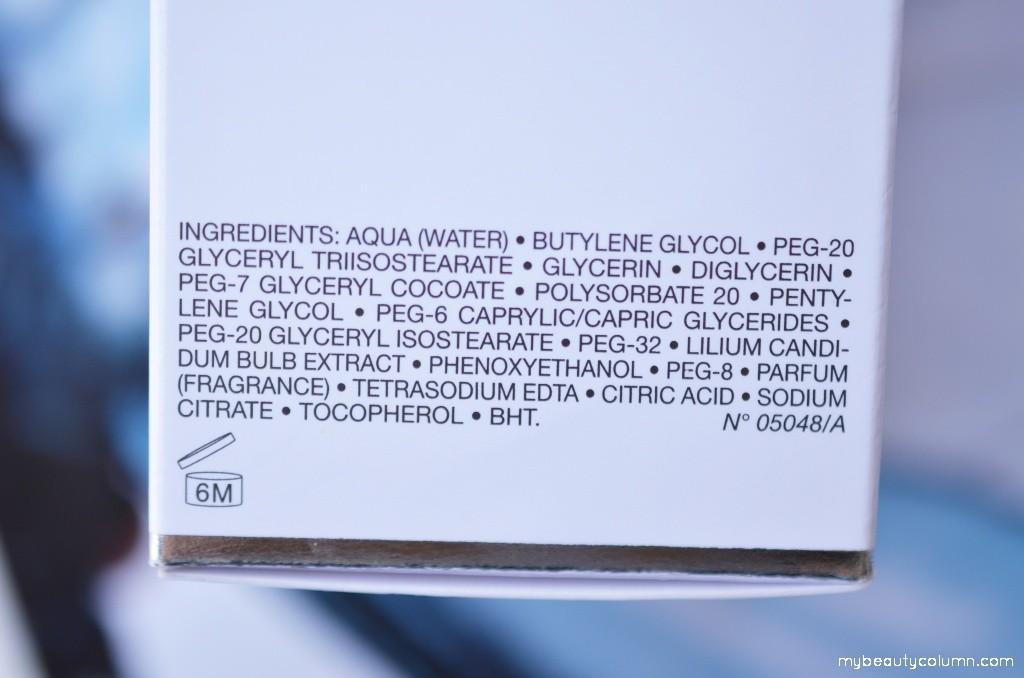 Dior Oil Ingredients