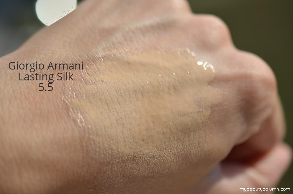 Armani puder swatch