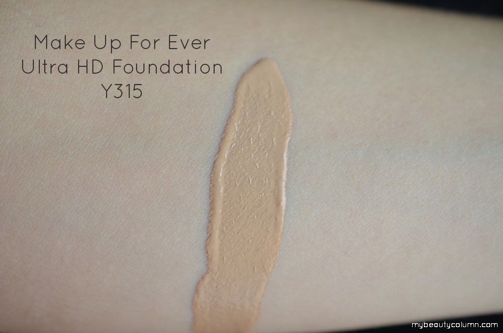 Make up for ever ultra hd swatch