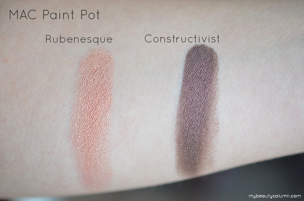 MAC Paint Pots - Rubenesque & Constructivist Swatches