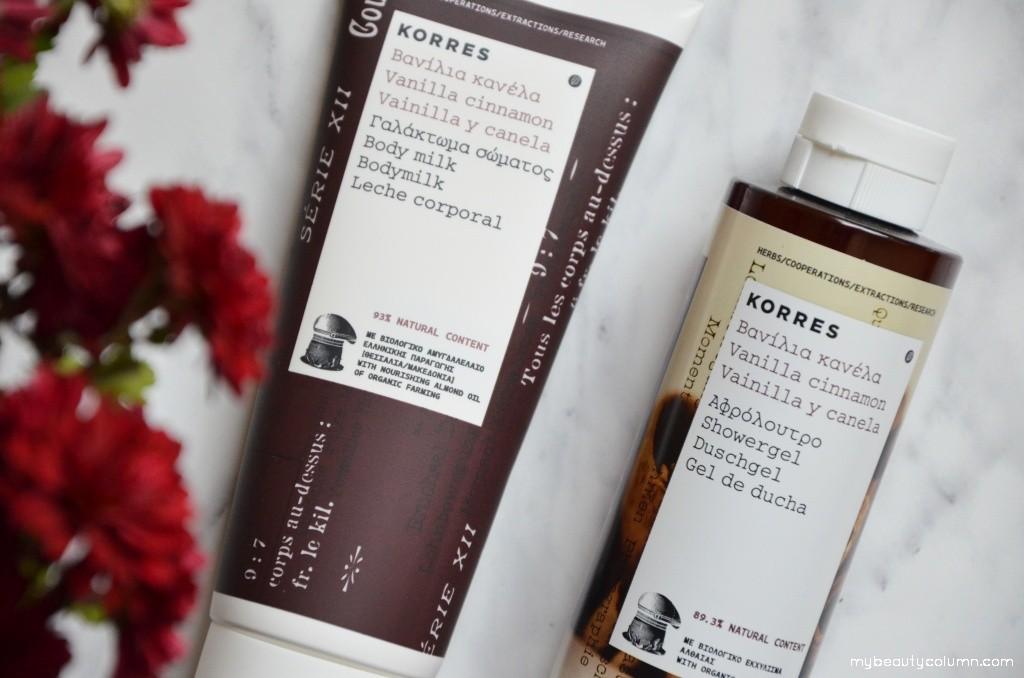 Korres Vanilla Cinnamon Bodymilk & Showergel