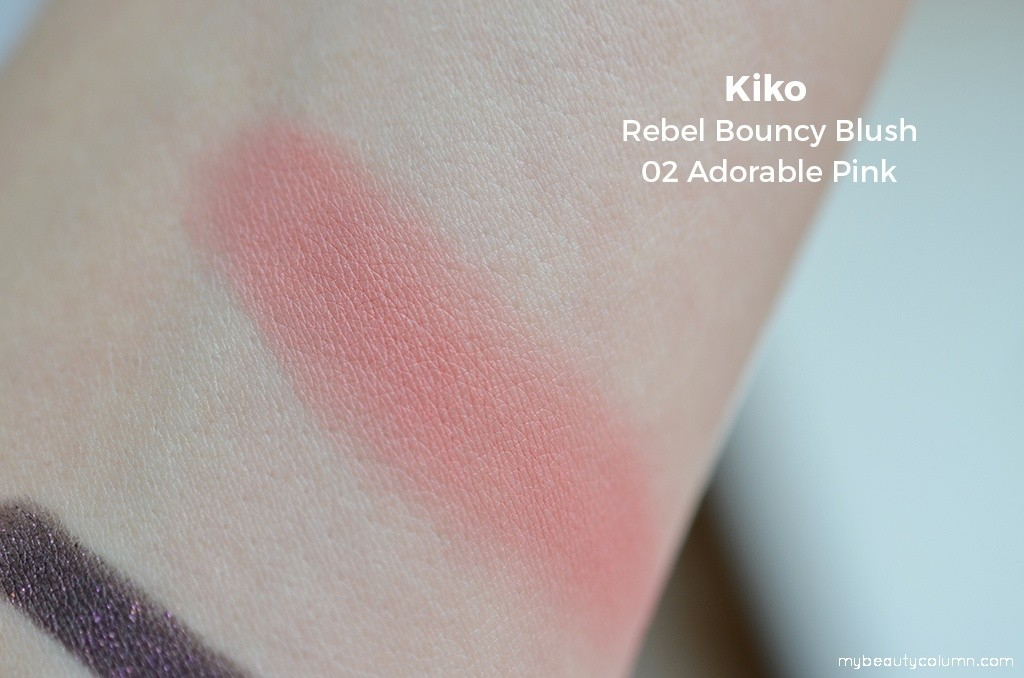 Kiko Rebel Romantic Collection: 02 Adorable Pink blush swatch