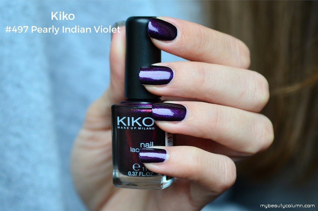 Kiko Milano Nail Polish 479 Pearly Indian Violet Swatch
