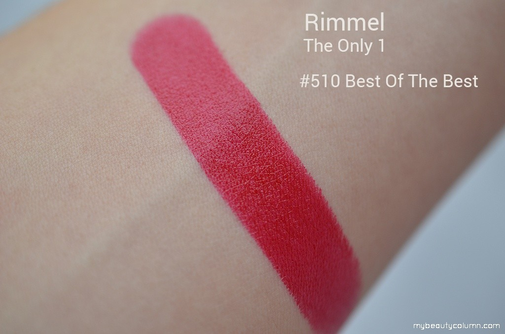 Rimmel The Only One lipstick swatch: 510 Best of the best