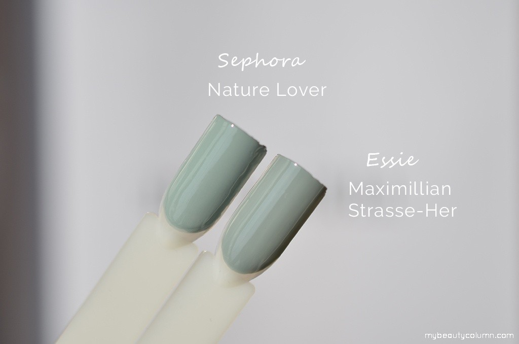 Sephora Nature Lover vs Essie Maximillian Strasse Her