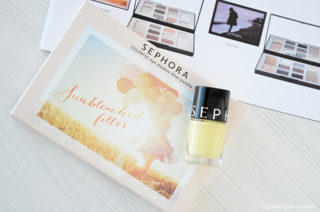 Sephora Sunbleached Filter Eyeshadow Palette & Color HIt Nailpolish Praia Do Amor