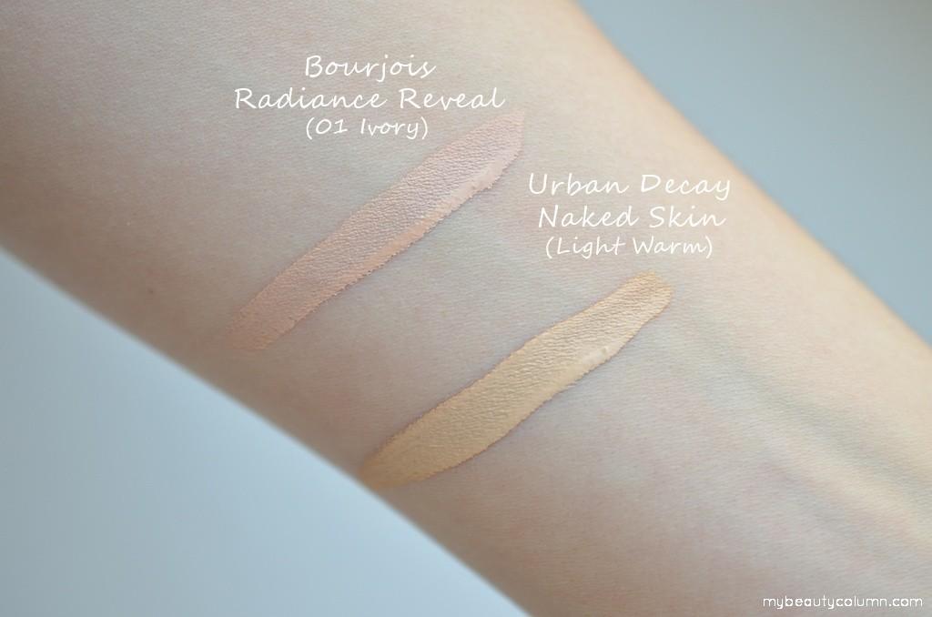 Bourjois Radiance Reveal Concealer vs Urban Decay Naked Skin