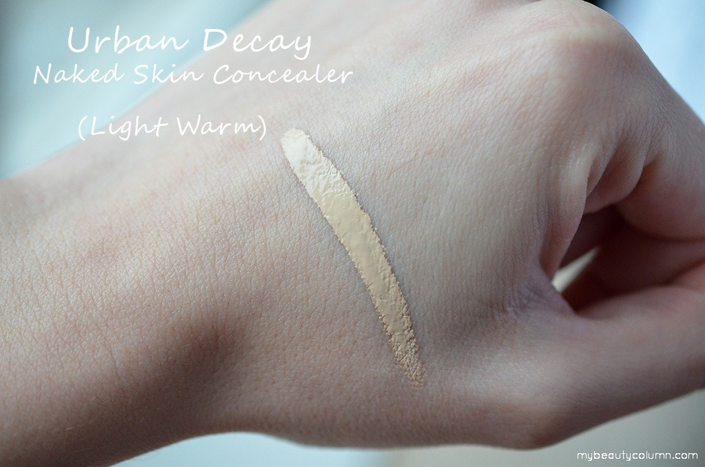 Urban Decay Naked Skin Weightless Complete Coverage Concealer Light Warm Swatch