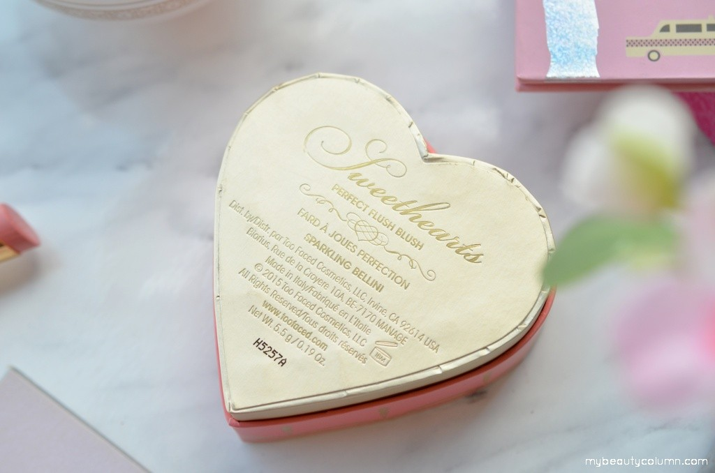 Too Faced Sweethearts Perfect Flush Blush in Sparkling Bellini