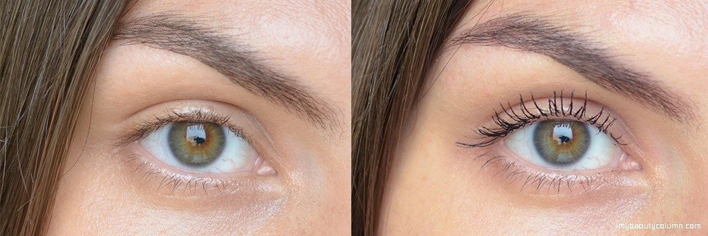 Make Up For Ever Excessive Lash Mascara Swatch Before & After