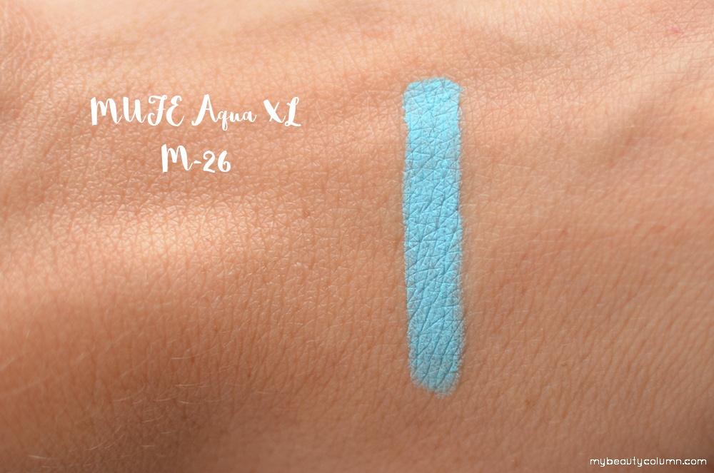 Make Up For Ever Aqua XL pencil M-26 Matte Pastel Blue Swatch