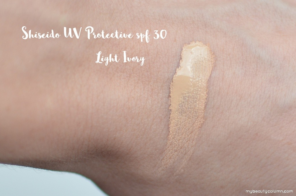 Shiseido UV Protective Liquid Foundation SPF 30 Swatch