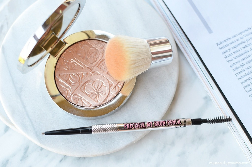 Benefit Precisely My Brow Pencil & Dior Glowing Gardens Illuminating Powder - 002 Glowing Nude