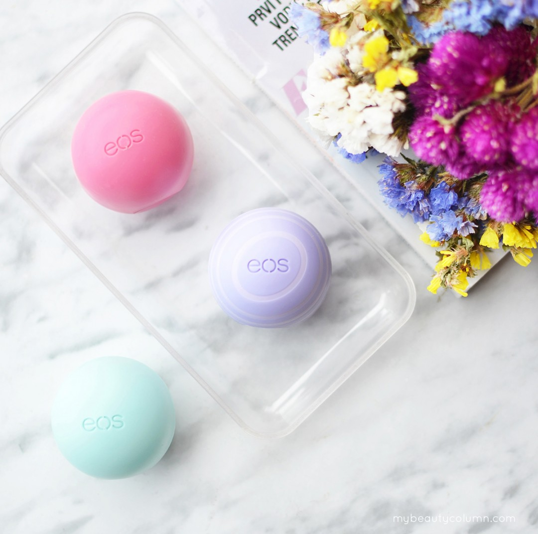 EOS Lip Balms: Strawberry Sorbet, Sweet Mint & Blackberry Nectar - Review