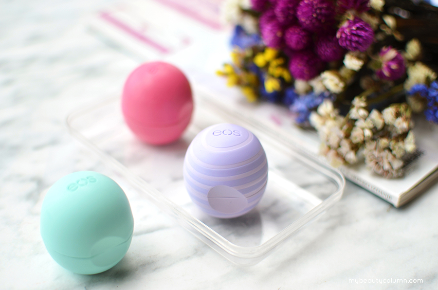 EOS Lip Balms: Strawberry Sorbet, Sweet Mint & Blackberry Nectar