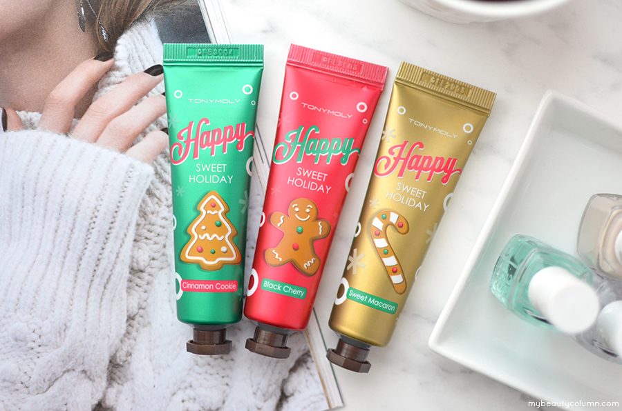 Tony Moly Happy Sweet Holiday Hand Butter Trio (Holiday 2016 Gift Sets) - MyBeautyColumn.com