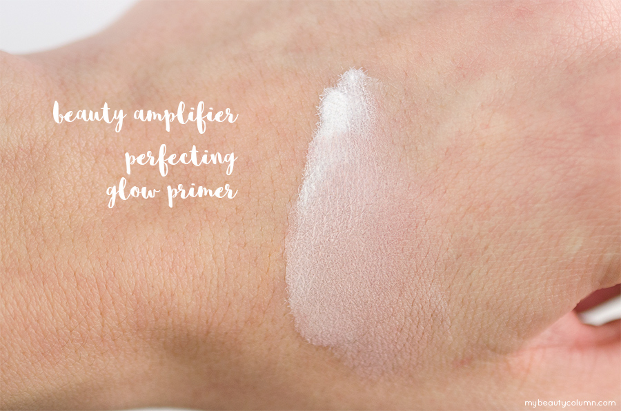 Sephora Beauty Amplifier Glow Primer Swatch - MyBeautyColumn.com