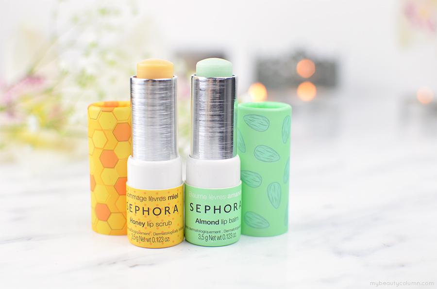 Sephora Almond Lip Balm & Honey Lip Scrub - MyBeautyColumn.com