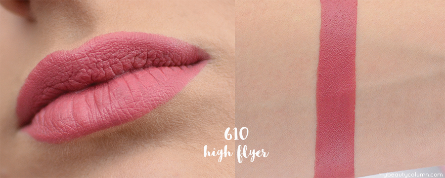 Rimmel Only One Matte Lipstick 610 High Flyer Swatch