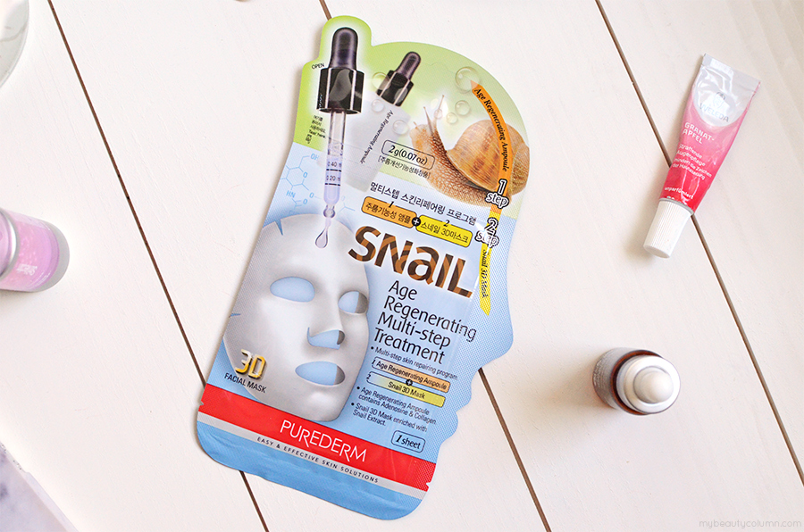 Purederm Snail Age Regenerating Multistep Treatment Mask Review