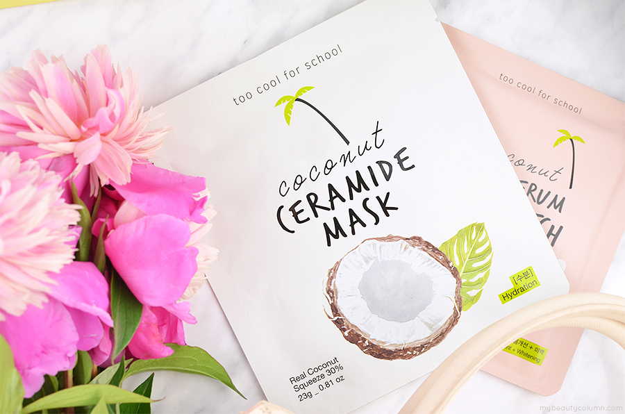 Too Cool For School Coconut Ceramide Mask Sheet