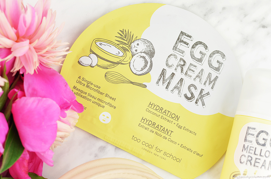 Too Cool For School Egg Cream Mask Sheet